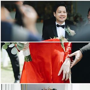Những khoảnh khắc đẹp nhất trong đám cưới Đặng Thu Thảo và hôn phu Trung Tín