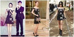Sau khi 'đụng hàng' sao Hàn đình đám, Chi Pu lại tiếp tục diện váy giống hệt sao Hoa ngữ