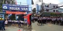 TP.HCM: Cháy lớn tại trường học, hàng trăm học sinh hốt hoảng chạy thoát thân