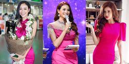 Những bộ cánh màu hồng murrey đẹp đến nao lòng của mỹ nhân Việt