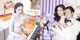 MC Mai Ngọc trổ tài đàn piano và chia sẻ 'ảnh độc' trong hôn lễ nhân kỷ niệm 1 năm ngày cưới