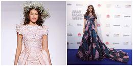 Hoa hậu Phạm Hương 'đẹp đốn tim' sải bước trên sàn diễn Dubai Fashion Week 2017