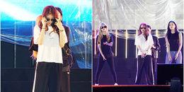 Không nghỉ ngơi, T-ara vừa tới Việt Nam đã đến sân khấu tổng duyệt cho đêm concert