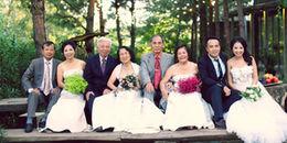'Tan chảy' trước bộ ảnh cưới 3 thế hệ cả hai gia đình thông gia độc đáo