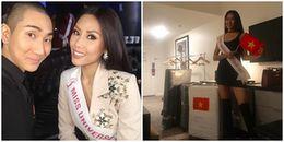 Vừa đến Mỹ, Nguyễn Thị Loan đã xuất hiện trên trang chủ Miss Univesre 2017
