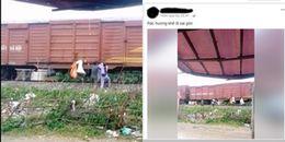 """Kỳ lạ cảnh người dân """"gửi rác"""" theo các đoàn tàu"""