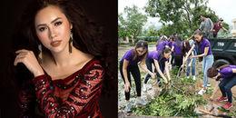 Á hậu Hoàng My gây tranh cãi khi so sánh thiệt hại của bão lũ với Hoa hậu Hoàn vũ Việt Nam