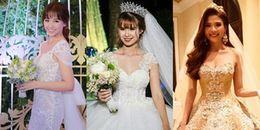 Ai xứng danh là 'nữ hoàng' thay váy cưới nhiều nhất của Vbiz?