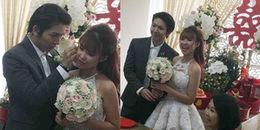 yan.vn - tin sao, ngôi sao - Cận cảnh chú rể Kelvin Khánh ngọt ngào, ân cần chăm sóc cô dâu Khởi My trong lễ cưới sáng nay