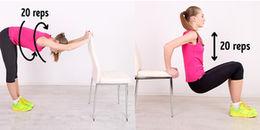 Đốt cháy mỡ bụng cực kì hiệu quả chỉ nhờ 1 chiếc ghế trong 10 phút