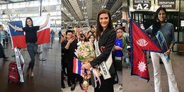 Các thí sinh 'ồ ạt' đến Mỹ tham dự Miss Universe, Hoa hậu Thái Lan gây 'náo loạn' sân bay vì quá đẹp
