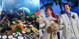 yan.vn - tin sao, ngôi sao - Hậu đám cưới, Khởi My tháo hết nữ trang cùng Kelvin Khánh tổ chức tiệc