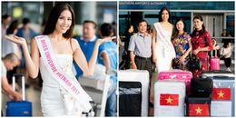 Nguyễn Thị Loan mang theo 100kg đồ diễn lên đường dự thi Miss Universe 2017