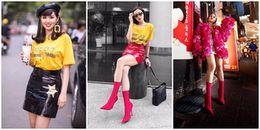 Không chỉ đi giày hot 'đụng hàng' Châu Bùi, Kỳ Duyên lại tiếp tục diện áo giống hệt Tâm Tít