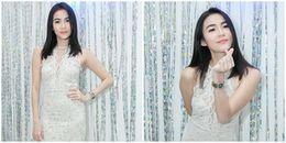 Mỹ nhân 'Tình yêu không có lỗi' diện váy trắng tinh khôi xuất hiện tại Việt Nam