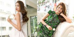 Gác lại 'cuộc chiến' với Kỳ Duyên - Minh Tú, Phạm Hương làm vedette ở Dubai Fashion Week