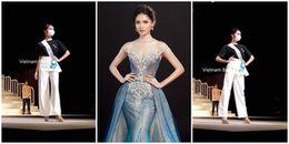 Chưa khỏi thủy đậu, Thùy Dung đeo khẩu trang tổng duyệt Chung kết Hoa hậu Quốc tế 2017