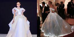 Angela Phương Trinh lại 'mượn' ý tưởng váy phát sáng của sao ngoại lên thảm đỏ MAMA 2017