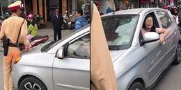 Công an vào cuộc điều tra vụ nữ tài xế 'đầu gấu' lái ô tô đẩy CSGT hơn 100m trên phố