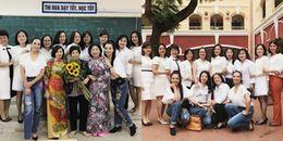 Thúy Hằng - Thúy Hạnh bồi hồi, xúc động khi về thăm ngôi trường cấp 3 nhiều kỷ niệm