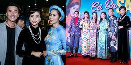 'Gái hai con' Tăng Thanh Hà cùng dàn sao diện áo dài đến ủng hộ Ngô Thanh Vân
