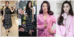 Không chỉ diện váy giống nhau dàn mỹ nhân Việt còn có hẳn những pha 'đụng hàng' xuyên lục địa