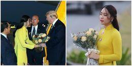 Đã tìm ra danh tính cô gái mặc áo vàng tặng hoa cho Tổng thống Mỹ Donald Trump