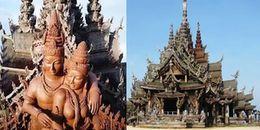 Cận cảnh ngôi đền làm hoàn toàn bằng gỗ tại Thái Lan nhưng không sử dụng bất cứ cây đinh nào