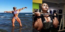 Nữ vận động viên thể hình sở hữu cơ bắp 'khủng', đàn ông nhìn thấy cũng phải chết khiếp