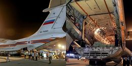 Máy bay vận tải Nga chở thịt hộp, sữa cứu trợ hạ cánh ở Cam Ranh