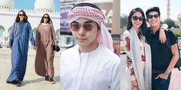 Sao Việt đến Dubai: Người 'nhập gia tùy tục', người thích gì mặc đó