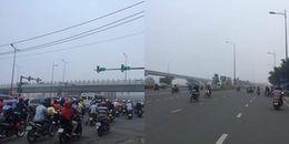 Sài Gòn chìm trong sương mù dày đặc, tầm nhìn của người đi đường bị hạn chế