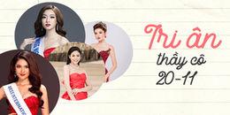 Trước ngày 20/11, dàn Hoa hậu, Á hậu 'đình đám' chia sẻ kỷ niệm về thầy cô, mái trường
