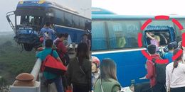 Tai nạn liên hoàn trên cầu Thanh Trì, xe khách vắt vẻo suýt rơi xuống sông Hồng