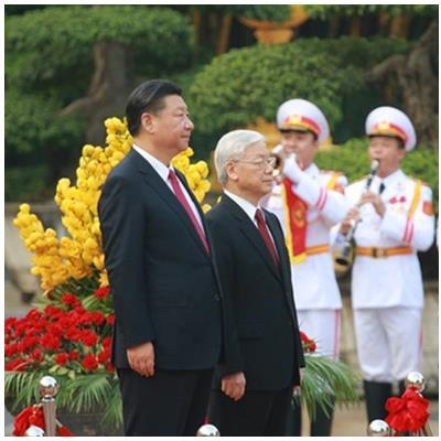 Bắn 21 loạt đại bác chào mừng Tổng Bí thư, Chủ tịch Trung Quốc Tập Cận Bình