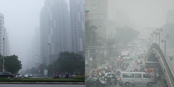 Hà Nội bị sương mù 'nuốt chửng' sáng nay, nguyên nhân là do đâu?