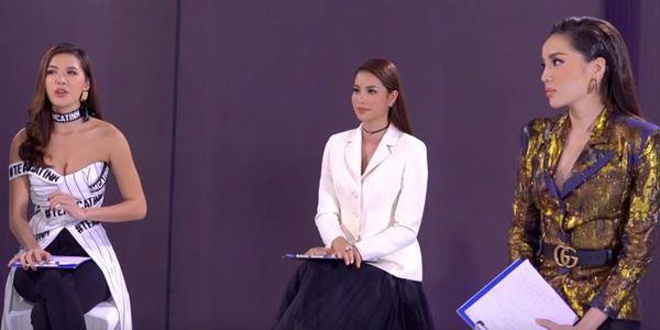 Cận cảnh Kỳ Duyên chen lời Minh Tú vì cho rằng đàn chị cố tình đẩy thí sinh về team Phạm Hương