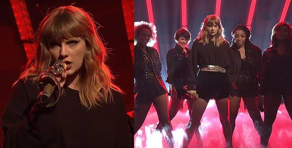 """Cầm mic """"Rắn Vàng"""" lên sân khấu SNL, Taylor Swift gây bão vì bị cư dân mạng tố hát nhép"""