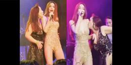Diện váy thế này, Hồ Ngọc Hà bị fan cuồng lên sân khấu sàm sỡ, hôn ngực