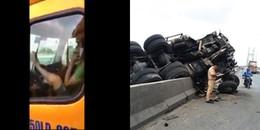 """Đã có quyết định mức xử phạt cho tài xế lái xe container bằng chân vượt qua """"cầu tử thần"""""""