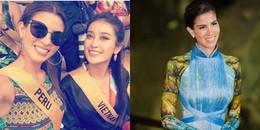 Tân Hoa hậu Hòa bình Quốc tế 2017 bất ngờ làm điều này cho Á hậu Huyền My