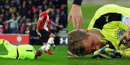 Sao Premier League bị cấm 3 trận vì đá rách mặt thủ môn
