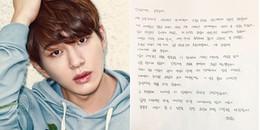 Thành viên nhóm nhạc nam nổi tiếng viết thư tay xin lỗi fan sau scandal quấy rối tình dục