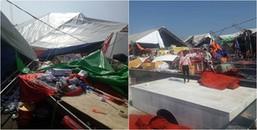 Quảng Ninh: Lốc xoáy bất ngờ kéo đến khiến 2 người bị thương, 60 gian hàng đổ nát