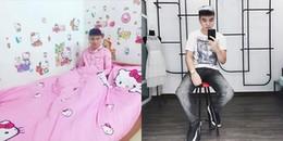 """Ngạc nhiên trước chàng trai cuồng màu hồng, mê Hello Kitty nhưng vẫn """"men"""" và có người yêu siêu xinh"""
