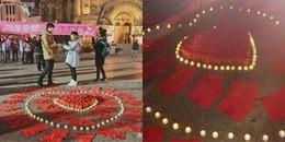 Cô gái dùng 199... quần lót đỏ để cầu hôn bạn trai: Em muốn trói chặt 'nửa dưới' của anh cả đời!