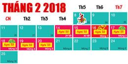 Lên kế hoạch đi chơi dài hơi thôi vì Tết Nguyên Đán 2018 được nghỉ hẳn 7 ngày cơ!