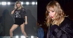 Taylor Swift lộ đùi to, thân hình mập mạp tăng 7kg hát 'Look what you made me do'