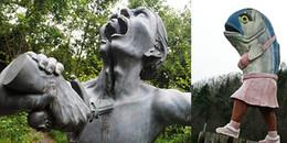 Tròn mắt trước những bức tượng quái dị và 'khó đỡ' nhất thế giới