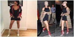 Rihanna lại 'gây bão' dư luận với đôi tất trông khá bình thường ... trị giá 30 triệu đồng